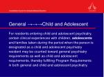general child and adolescent