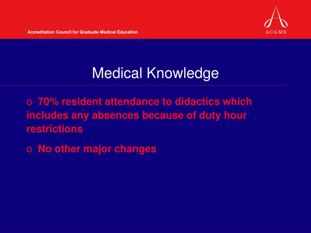 Medical Knowledge