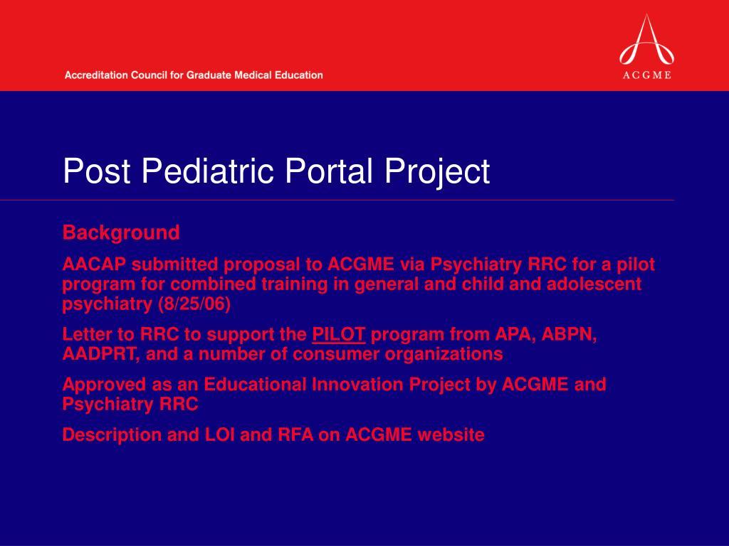 Post Pediatric Portal Project