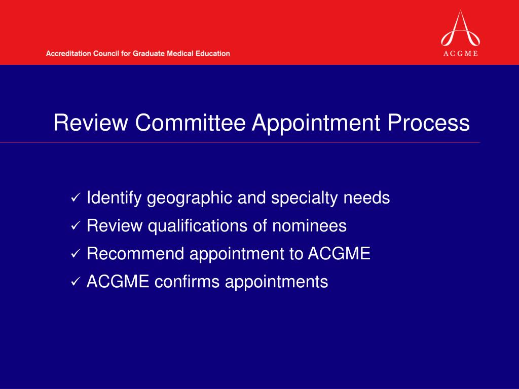 Review Committee Appointment Process