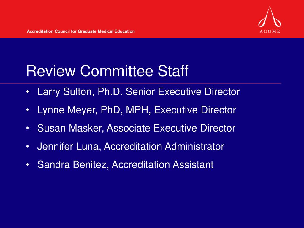 Review Committee Staff