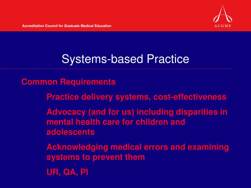 Systems-based Practice