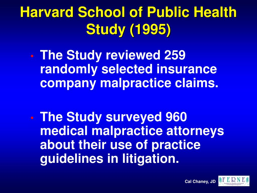Harvard School of Public Health Study (1995)