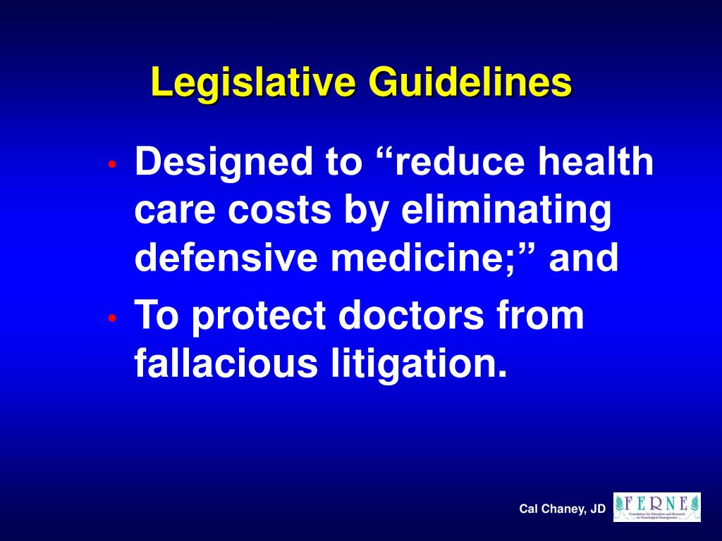 Legislative Guidelines