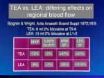 tea vs lea cv effects