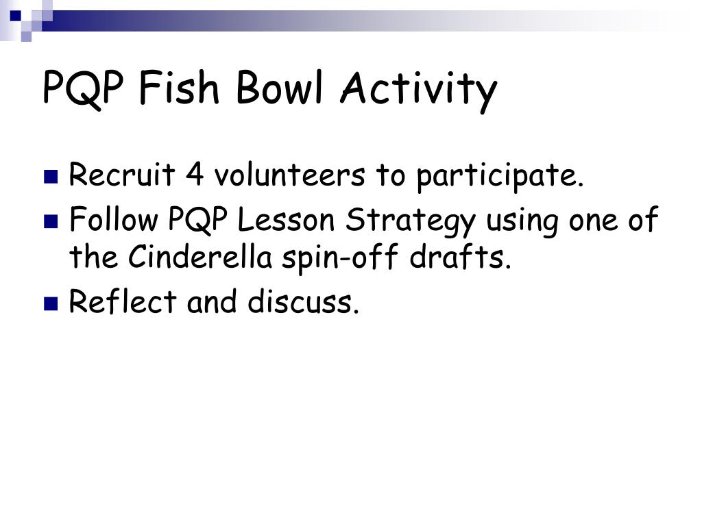 PQP Fish Bowl Activity