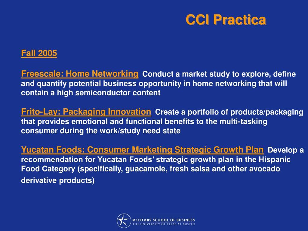 CCI Practica