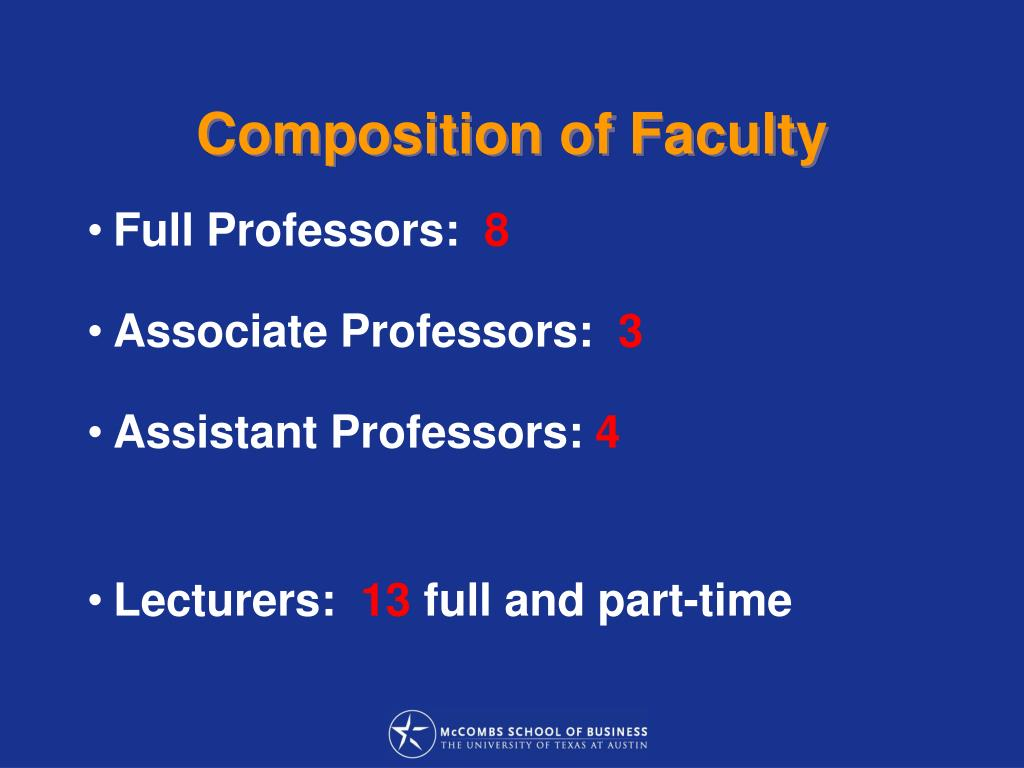 Composition of Faculty