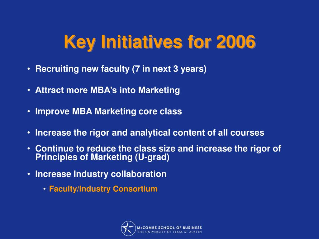 Key Initiatives for 2006