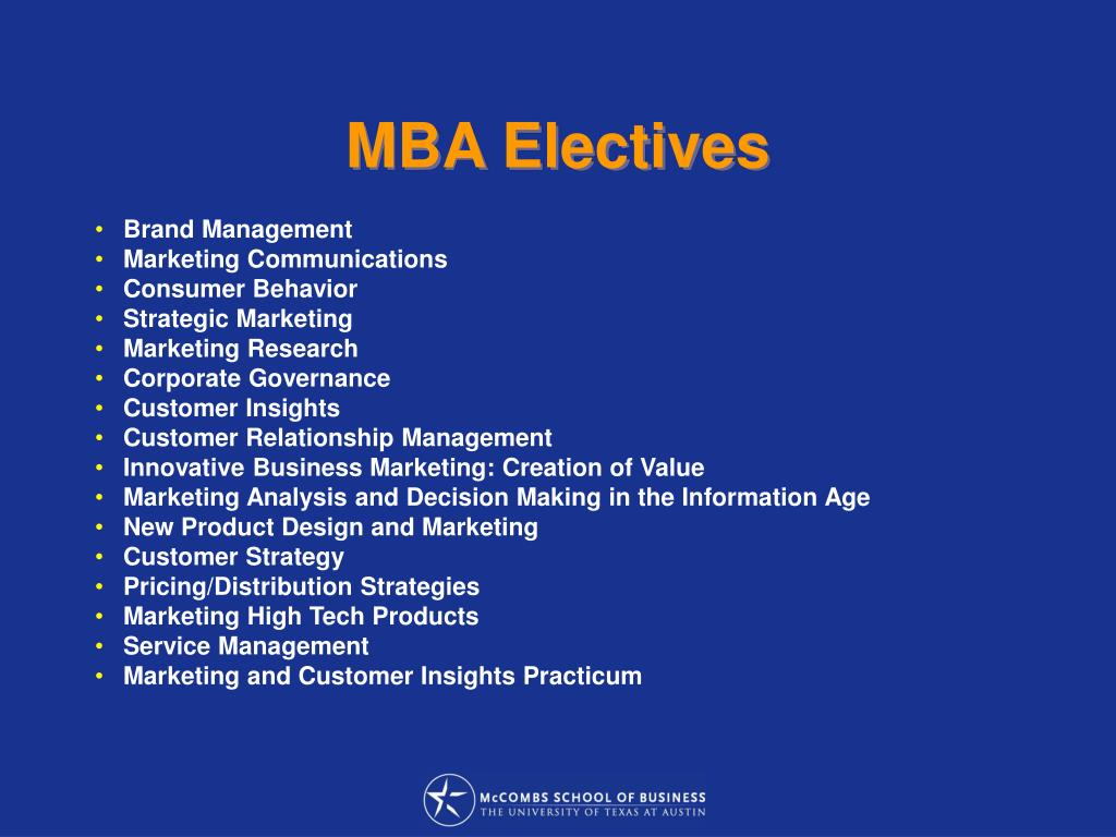 MBA Electives