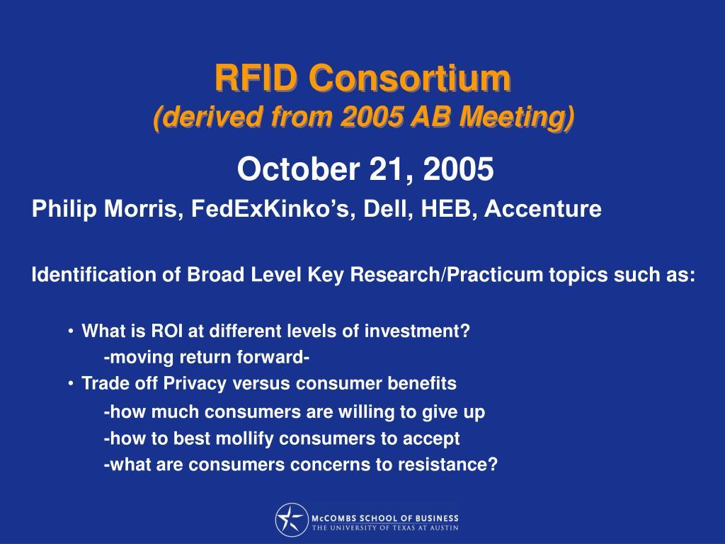 RFID Consortium