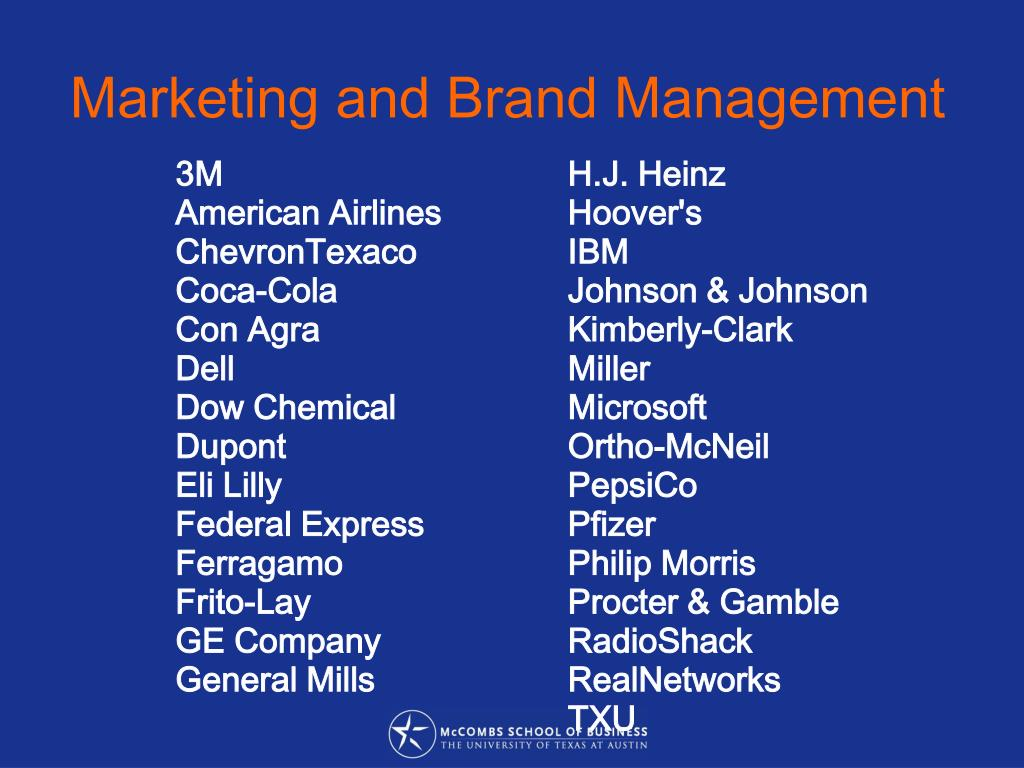 Marketing and Brand Management