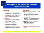 example of an intensive course manchester uk