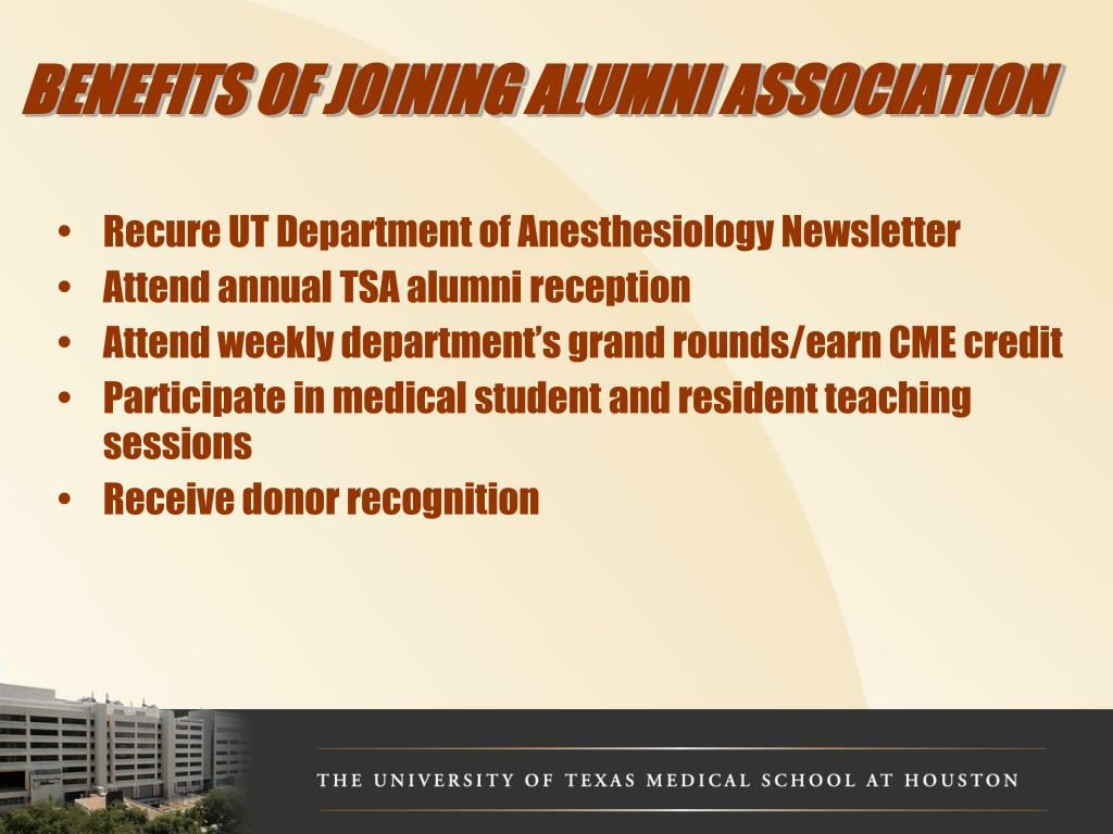 BENEFITS OF JOINING ALUMNI ASSOCIATION