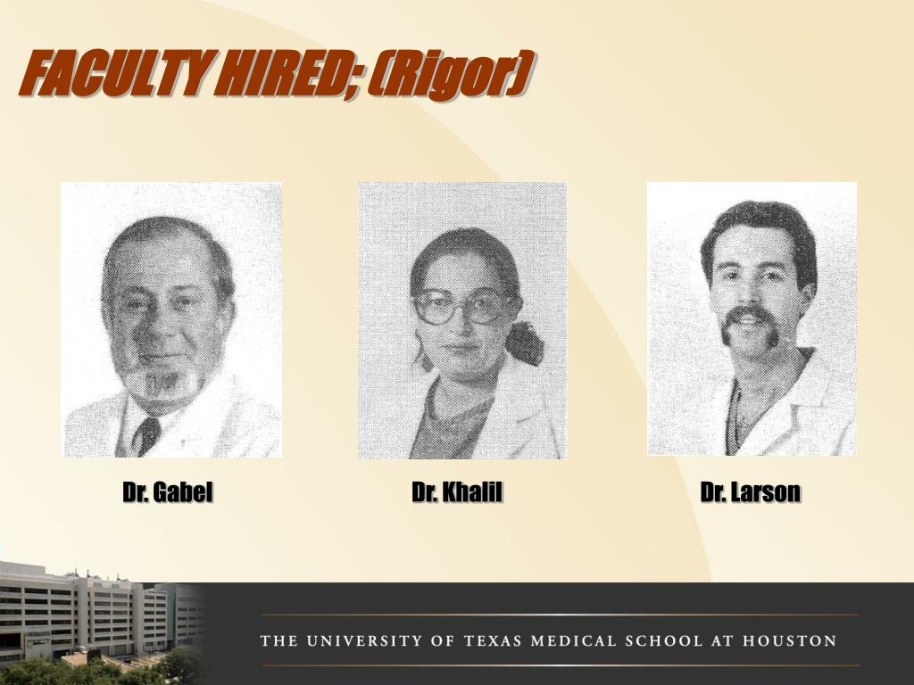 FACULTY HIRED; (Rigor)