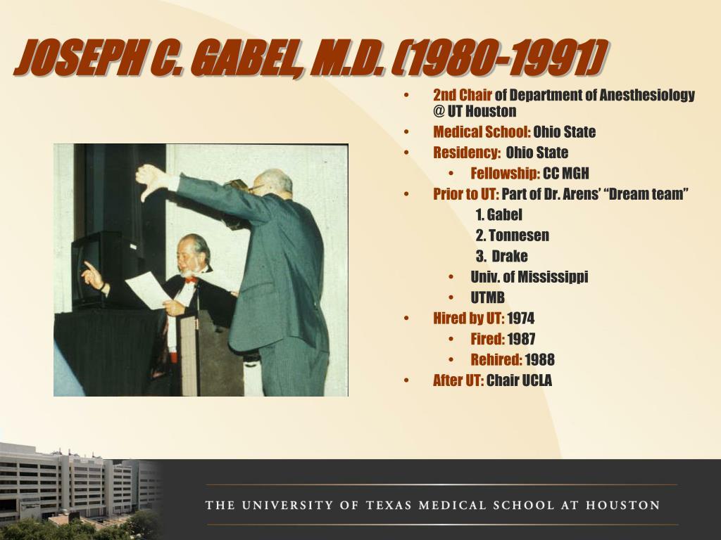 JOSEPH C. GABEL, M.D. (1980-1991)
