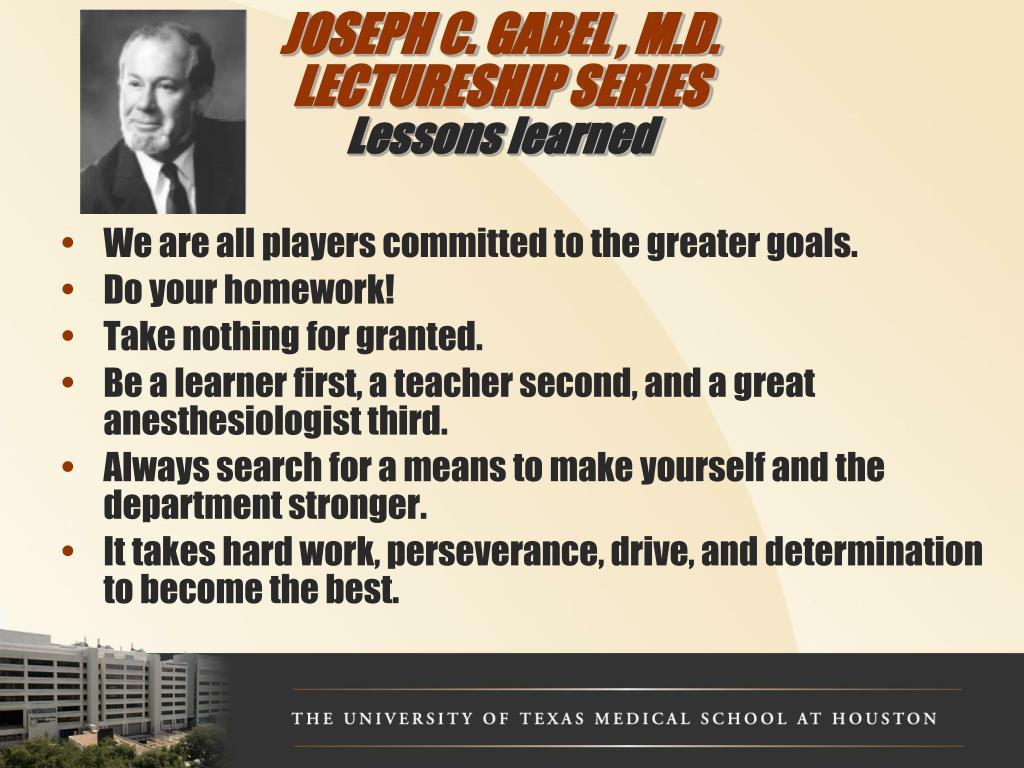 JOSEPH C. GABEL , M.D.