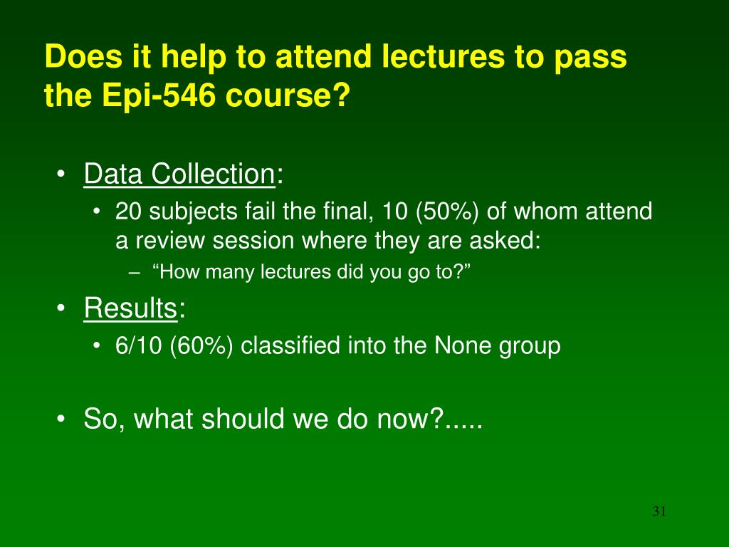 Does it help to attend lectures to pass the Epi-546 course?