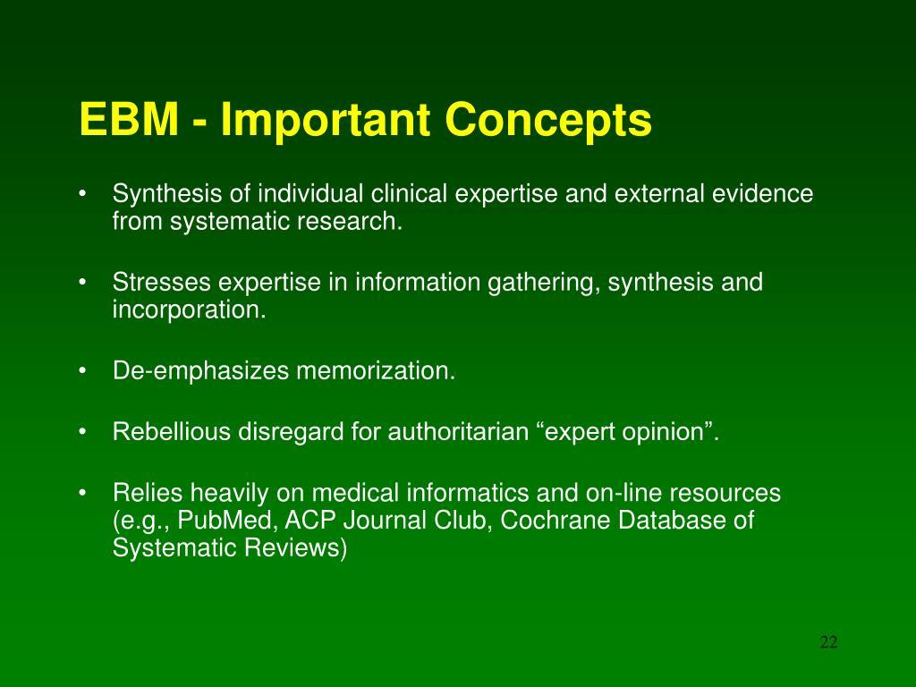 EBM - Important Concepts