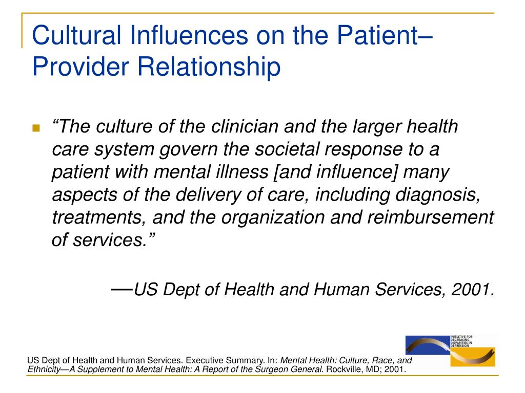 Cultural Influences on the Patient–Provider Relationship