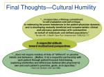 final thoughts cultural humility