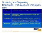 screening and diagnosing depression refugees and immigrants cont27