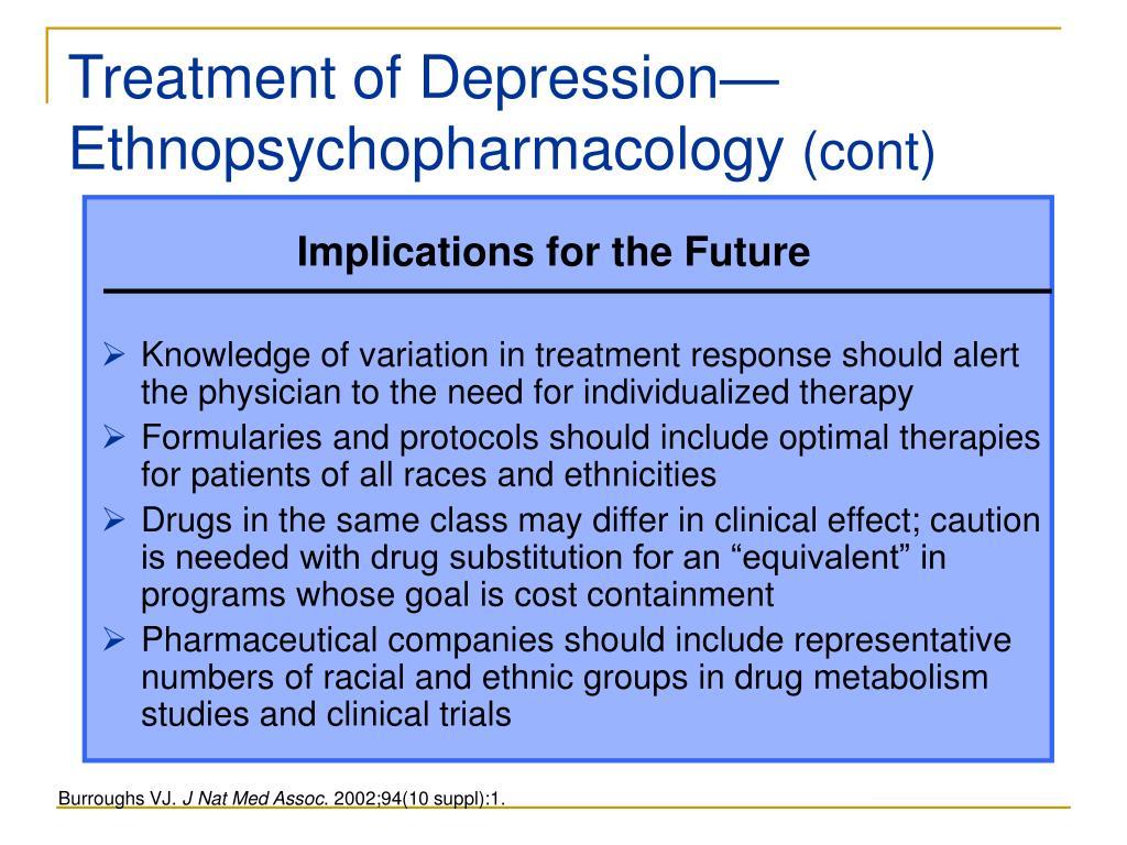 Treatment of Depression—Ethnopsychopharmacology
