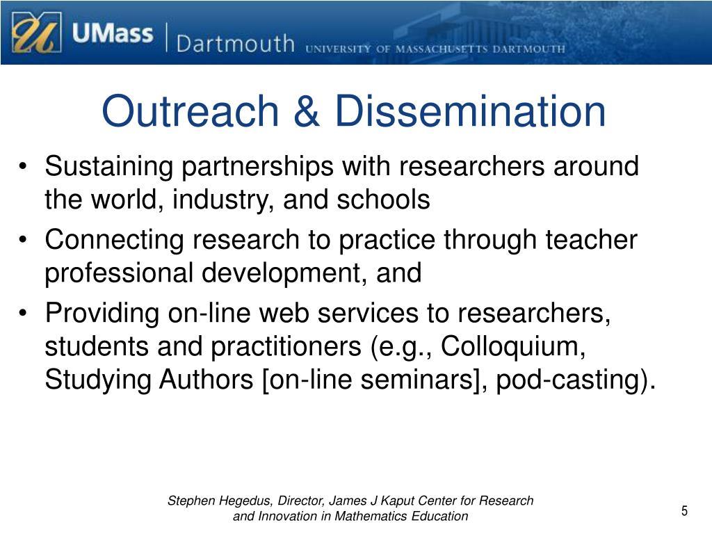 Outreach & Dissemination