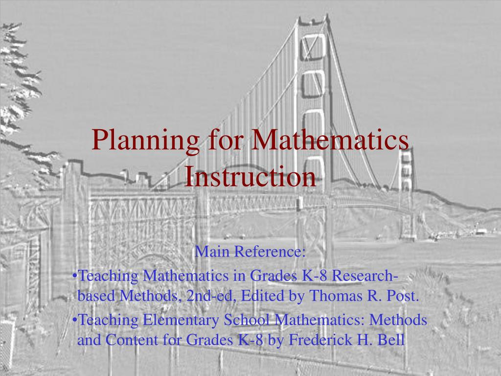 planning for mathematics instruction