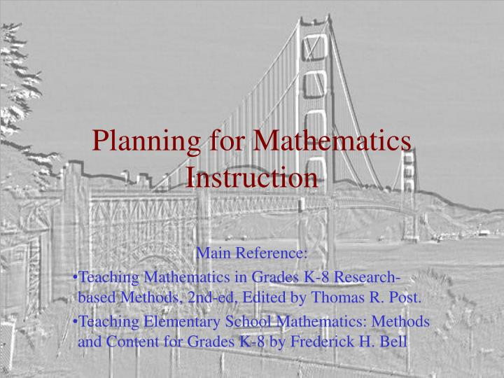 Planning for mathematics instruction l.jpg