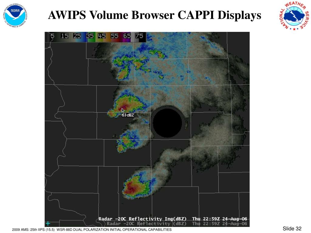AWIPS Volume Browser CAPPI Displays