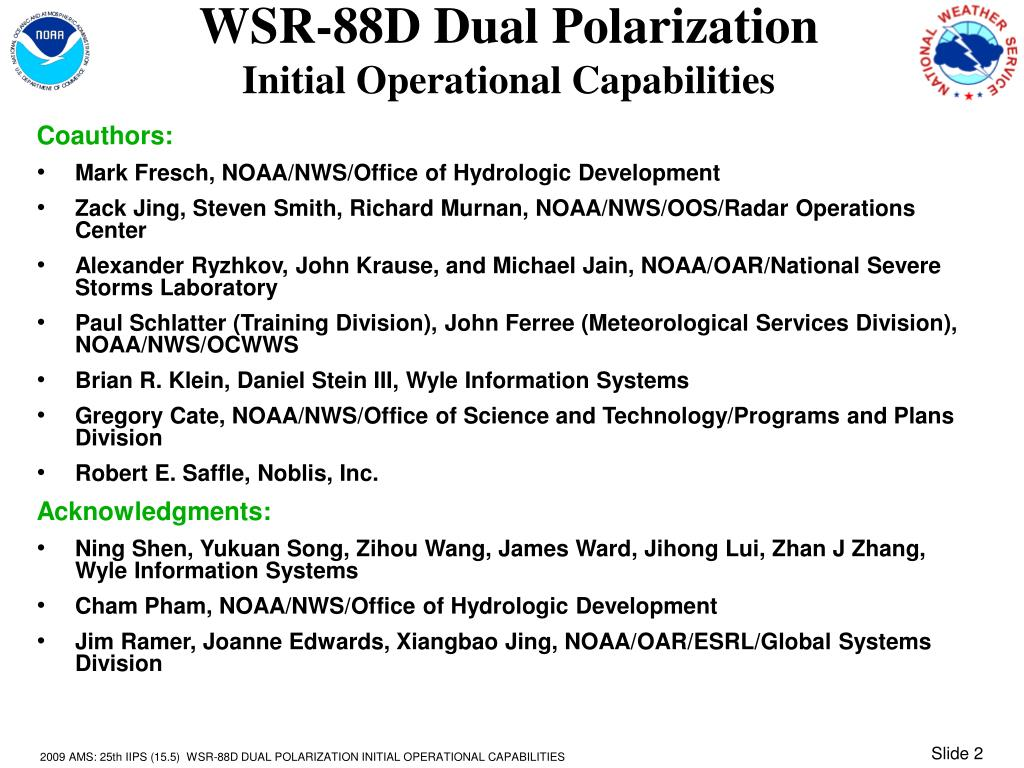 WSR-88D Dual Polarization
