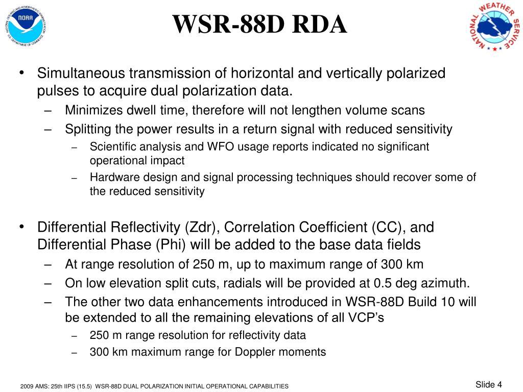 WSR-88D RDA