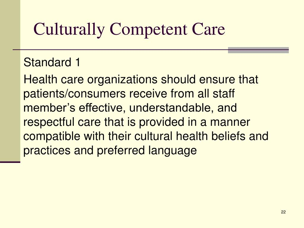 """holistic and culturally competent care Further, culturally competent mental health providers must negotiate care to """" bridge  culturally competent mental health care is provided by various   cultural competence: an integral part of holistic nursing practice."""