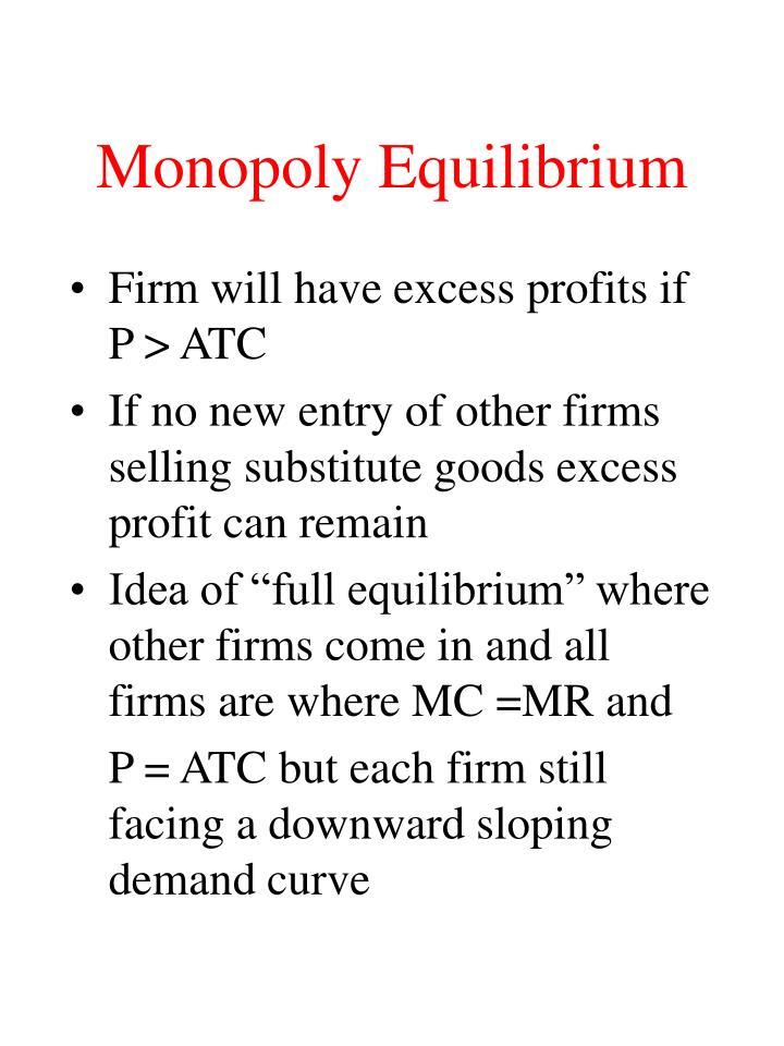 Monopoly Equilibrium