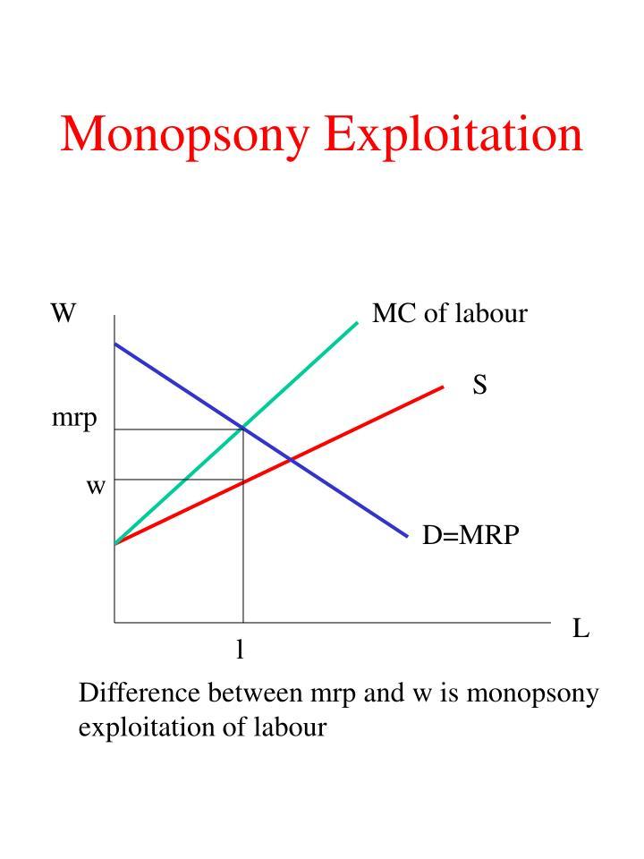 Monopsony Exploitation