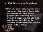 v sda distinctive doctrines21