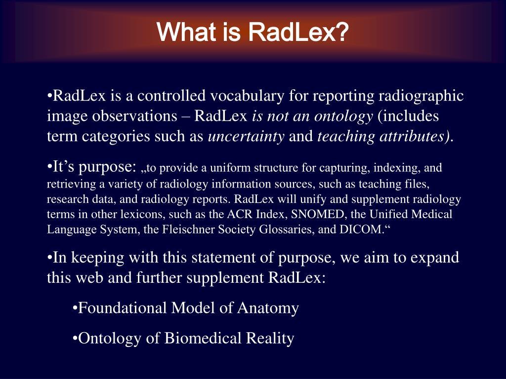 What is RadLex?
