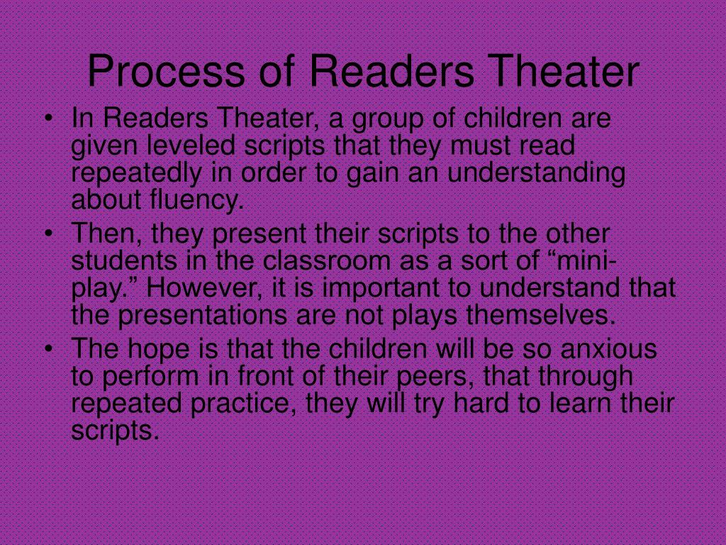 PPT - Readers' Theater PowerPoint Presentation - ID:232683