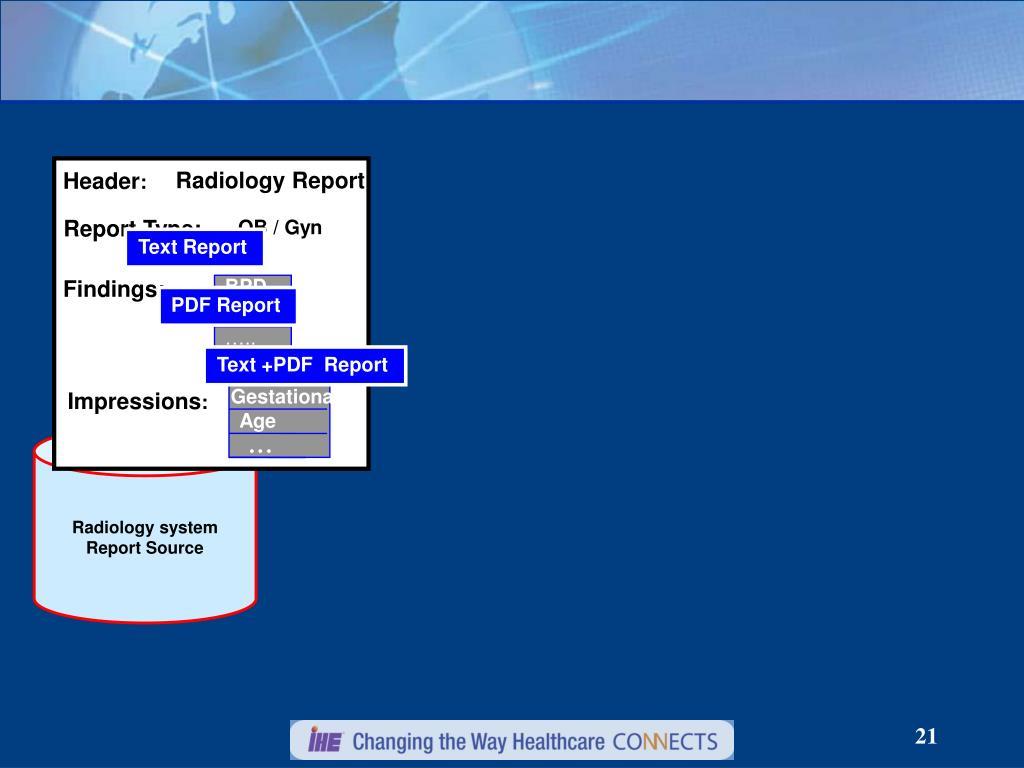 Radiology Report