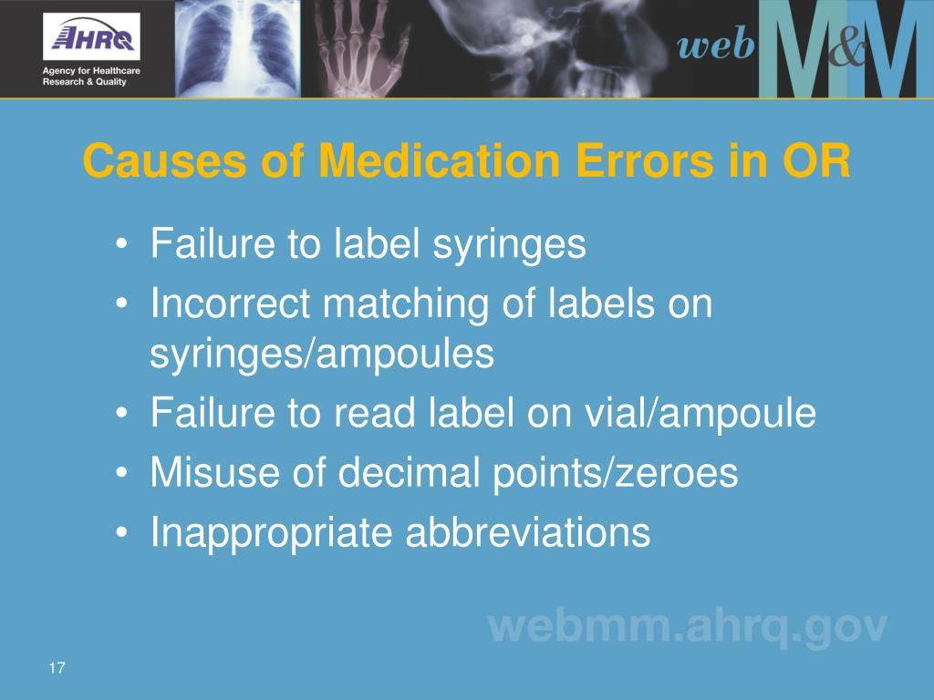 Causes of Medication Errors in OR