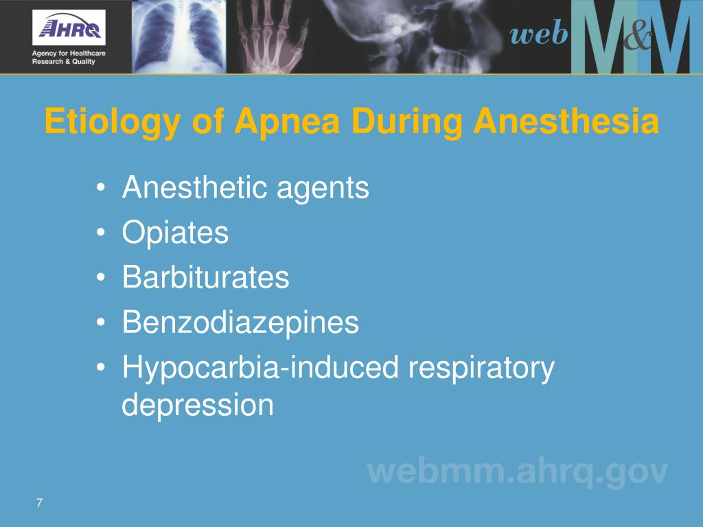 Etiology of Apnea During Anesthesia