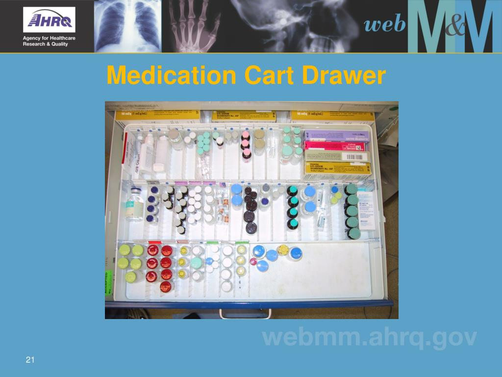 Medication Cart Drawer