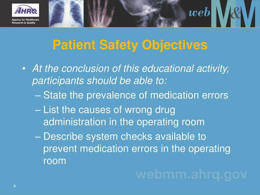 Patient Safety Objectives