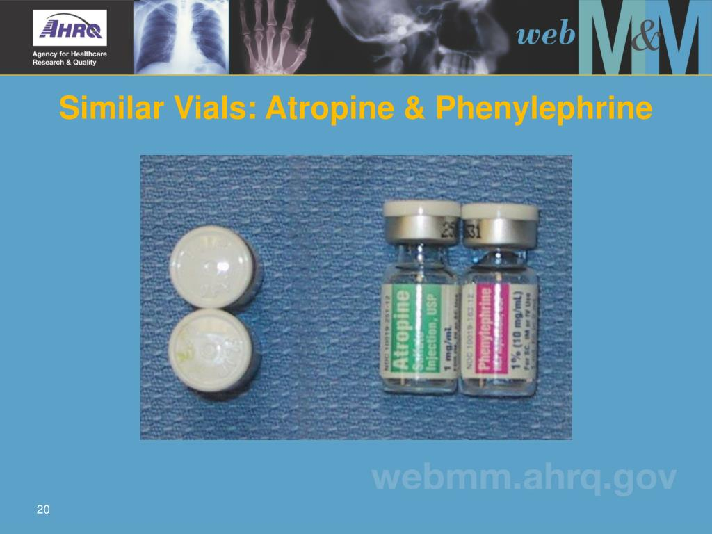 Similar Vials: Atropine & Phenylephrine