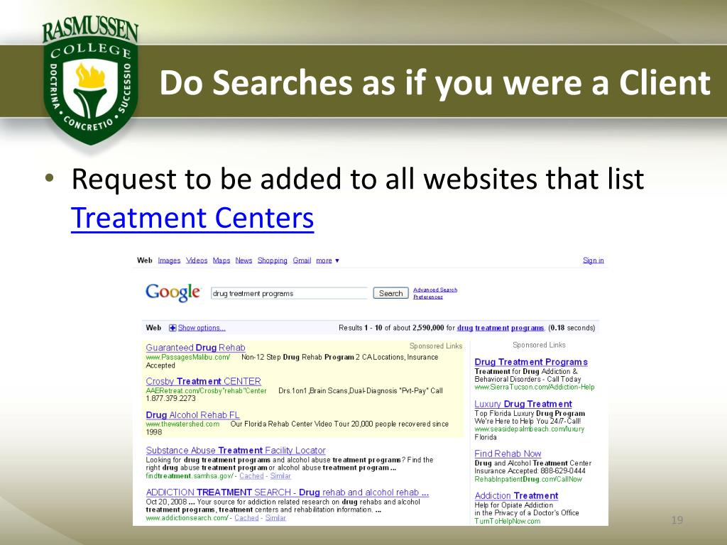 Do Searches as if you were a Client