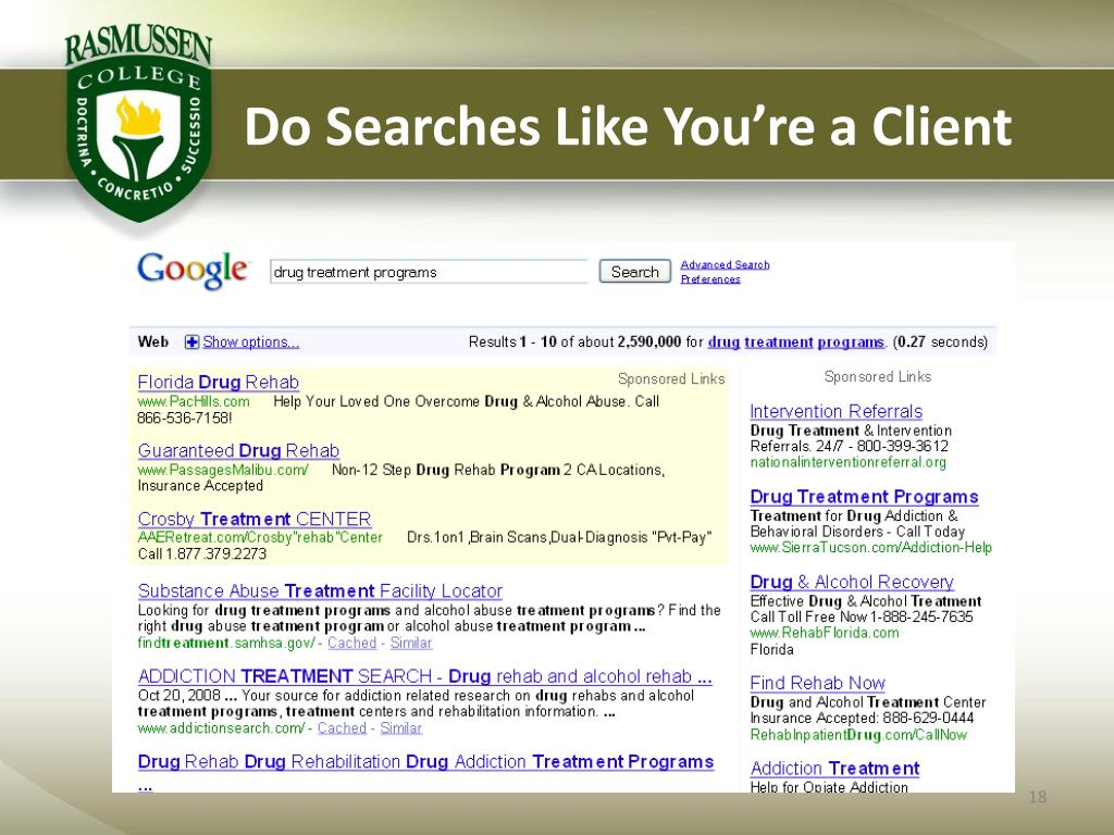 Do Searches Like You're a Client