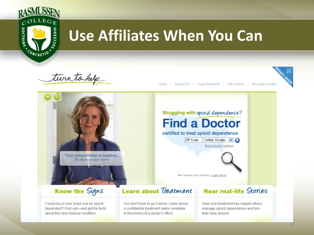 Use Affiliates When You Can