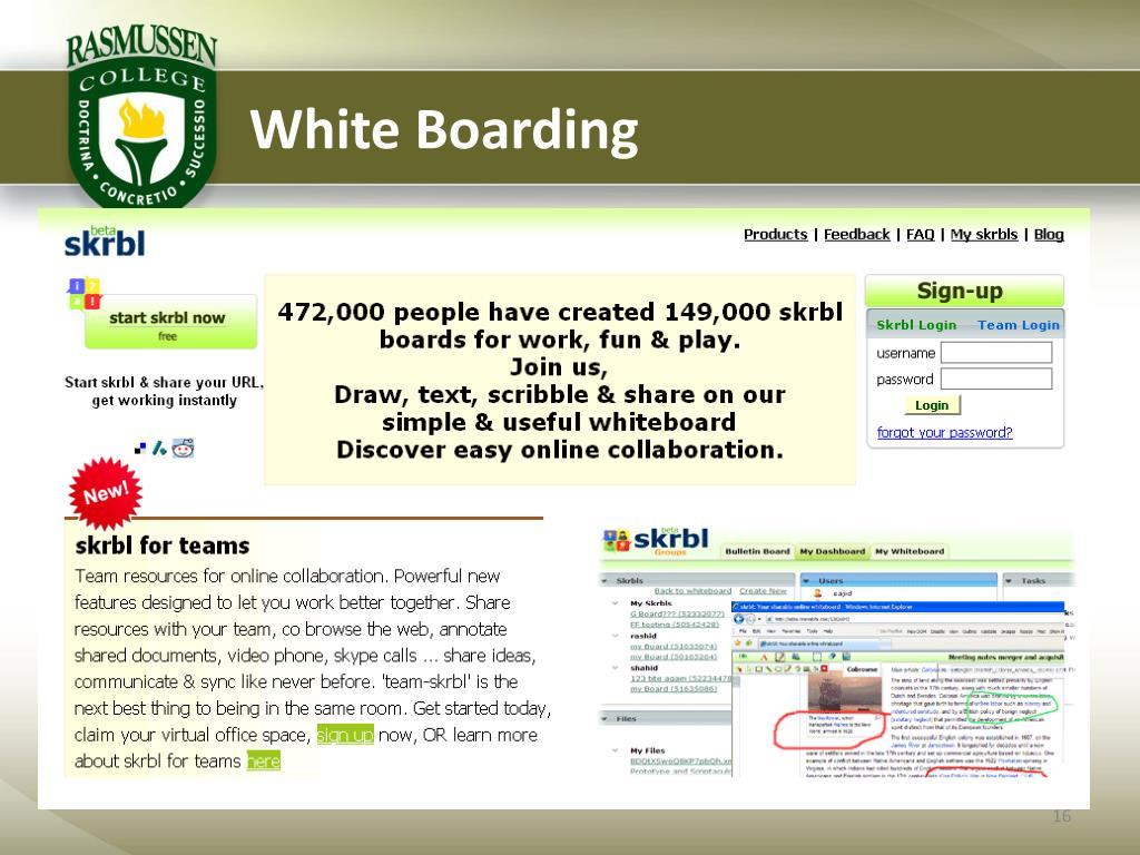White Boarding