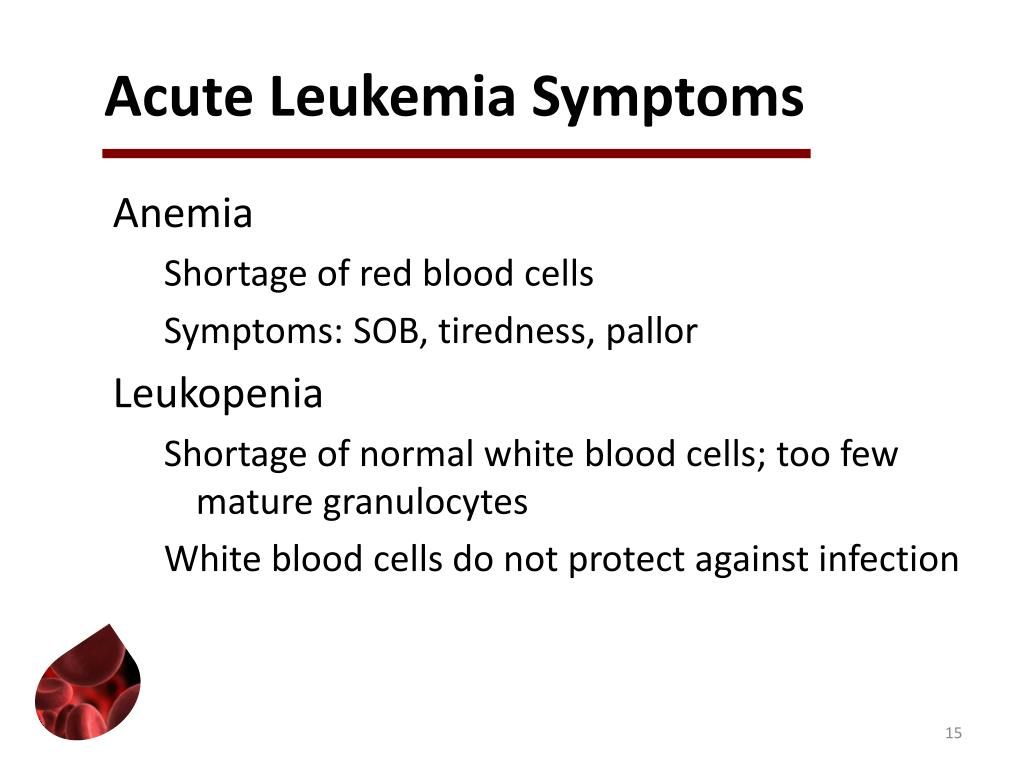 Acute Leukemia Symptoms